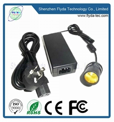 12V4A power adapter with female cigarette plug