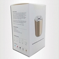 2 in 1 dual USB + ciggrett socket gold cup car charger 4