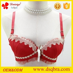 charming comfortable ladies bra with allover lace covered sexy lingerie