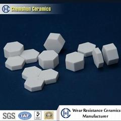 Chemshun Alumina Ceramic Hexagon Tile as Abraisve Wear Ceramic Tile