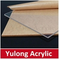 cast transparent acrylic PMMA board panel 1000*2000 3