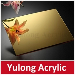 Gold Mirror Acrylic PMMA Sheet for Wedding Decoration
