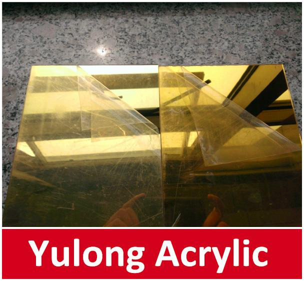 Gold Mirror Acrylic PMMA Sheet for Wedding Decoration 3