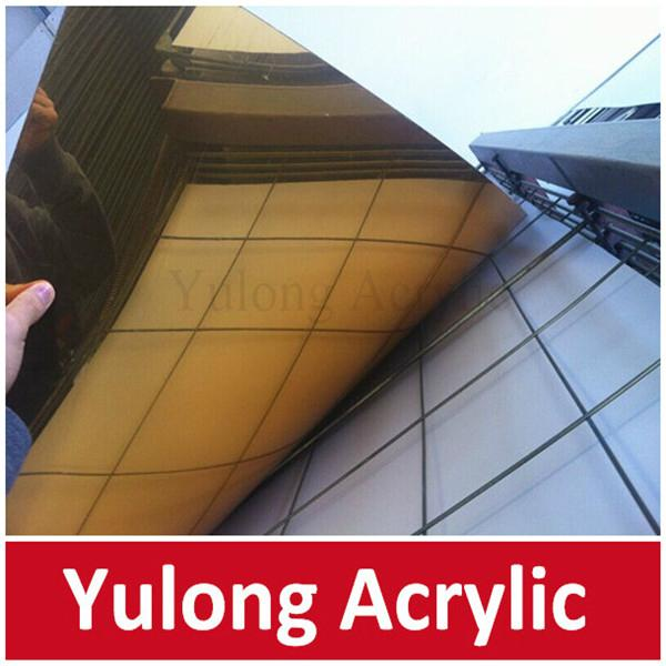 Gold Mirror Acrylic PMMA Sheet for Wedding Decoration 2