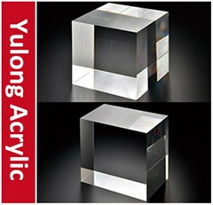 2mm Clear Acrylic Plexiglass Block Cube