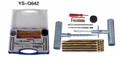 Tyre repair tool sets detachable