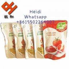 70g sachet tomato paste with birx 22-24% 2021 crop