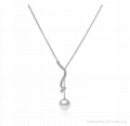 NEFFLY High Quality 925 Sterling Sliver Pearl Necklace Women for Party Pendant 1
