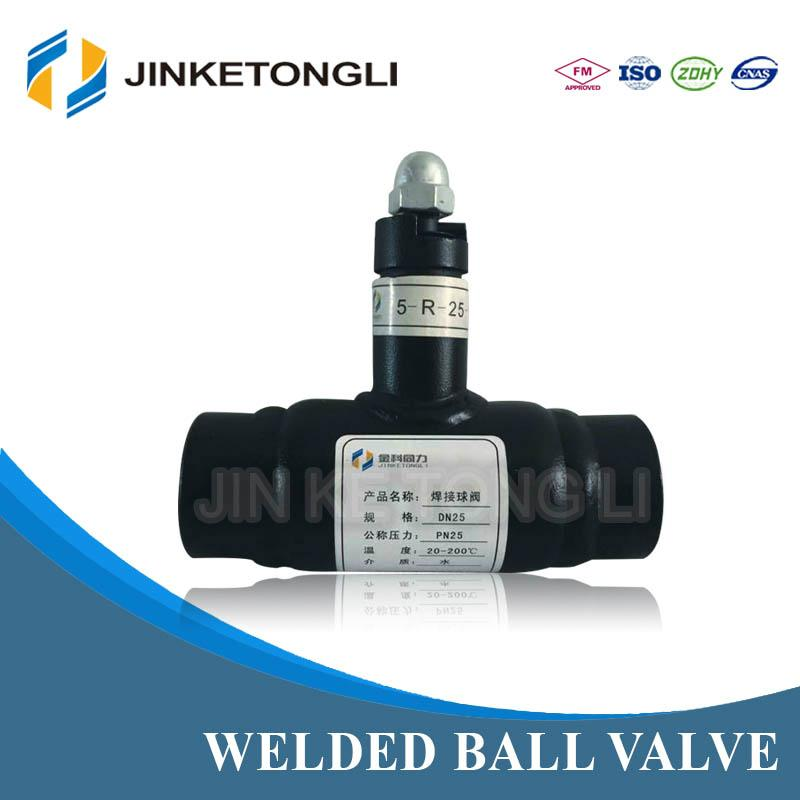 Heating System Welded Ball Va  e With the Handle Gear Box 3