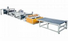 PVC silk carpet production line
