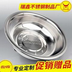 不鏽鋼帶磁家用加厚盆 促銷贈品盆 小件不鏽鋼制品來樣加工