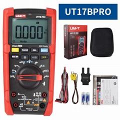 UniT True RMS Digital Multimeter  AC DC ohmmeter Voltmeter temperature Tester