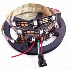WS2812 LED Strip IP30 30LEDs/m Black&White PCB Board 5050 Addressable RGB Strips
