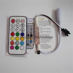 21鍵ws2811幻彩燈帶迷你紅外控制器電路遙控開關5V-24V