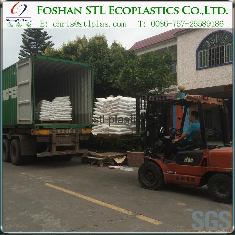 Nano barium sulfate filler master batch for plastic transparent LDPE film 4
