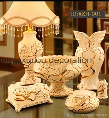 European style luxurious ceramic decoration set(Housewarming gift