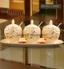 L-D European style ceramic Cruet set