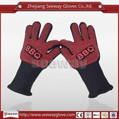 SeeWay F350 Silicone baking glove EN407 Oven grill glove BBQ glove