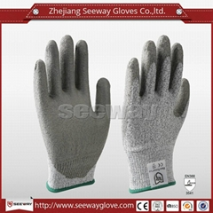 SeeWay B510 Hdpe Palm PU Coated Working Safety Cut Resistant Gloves