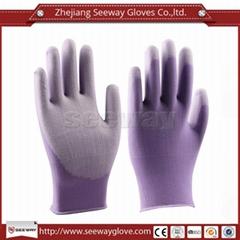 SeeWay 810 15gauge Cleanroom Nylon and PU Palm Coated Working Gloves