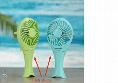 Factory price foldable mermaid built- in battery usb mini fan for gift promotion