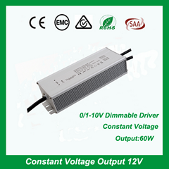 dimmable 0-10V LED driver for LED strip ligting