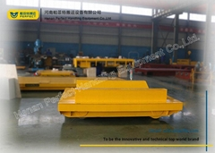 Cast Steel Wheel Motorised Rail Trolley 15 Ton Capacity With Safe Device