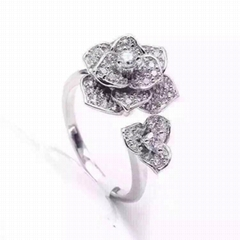 FREE SHIPPING AND NEFFLY JEWELRY OEM factory camellia ring series all imported 9