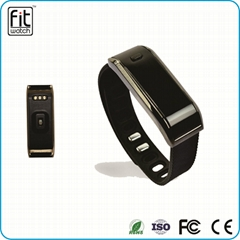 Heart rate 0.91 inch OLED screen bluetooth 4.0 wearable technology smart rubber