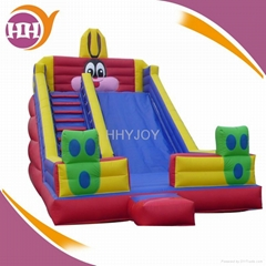 2016 popular inflatable slide with blower