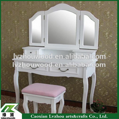 bedroom furniture wooden dresser with chair