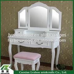 wholesale wash white french style make up vanity dressing table