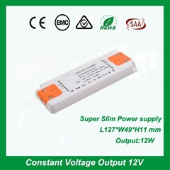 super slim led driver 15W ac/dc constant voltag ultra thin power supply
