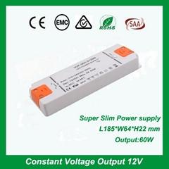 Indoor constant voltage 12V5A 24V2.5A 60W led strip light power supply