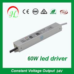 china manufacturer wholesale IP67 12V/24V 60w led power supply for strip light