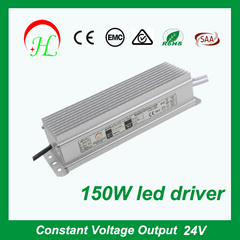 CE SAA approval 150W LED driver waterproof IP67 constant voltage power supply