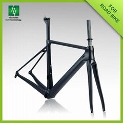 2016 New Design HQR06 China Carbon frame bike race road bicycle carbon fiber fra