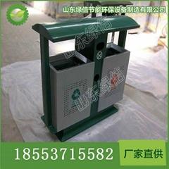 批發環保鋼制垃圾桶 街道分類垃圾桶 金屬垃圾桶