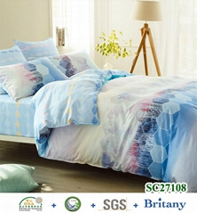 Sateen cotton quilt cover sheet sets duvet cover bedding sets
