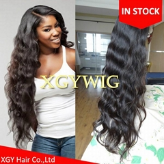 "Stock 14""-26"" 100% virgin unprocessed Brazilian Hair Natural Wave Full Lace Wigs"