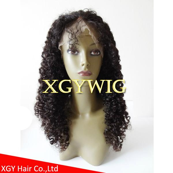 Stock 100% virgin unprocessed human hair kinky curly lace wigs for black women 2