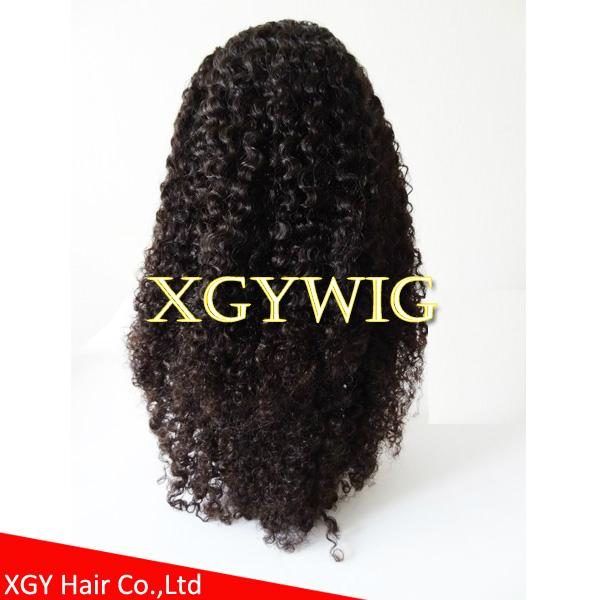 Stock 100% virgin unprocessed human hair kinky curly lace wigs for black women 5