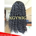 """Stock 8""""-24"""" cheap Indian Remy Human Hair Deep Curly glueless lace front wigs 5"""