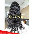 Stock 100% virgin unprocessed Peruvian Hair Natural Deep Body Wave Full Lace Wig