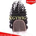 "Stock 10""-20"" 100% virgin unprocessed Brazilian Human Hair 4""x4"" lace closures 2"
