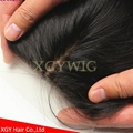 "Stock 100% virgin unprocessed Human Hair 4""x4"" silk base lace closures 5"