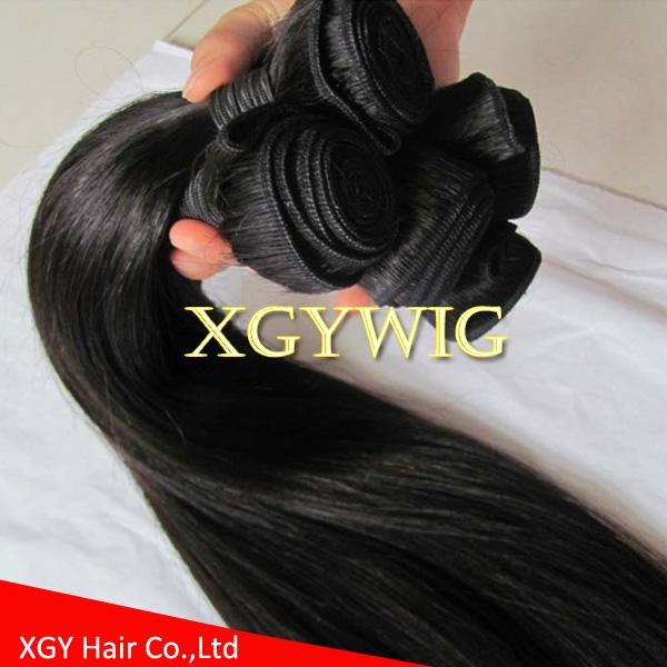 """Stock cheap factory price 10""""-30"""" 100% virgin remy human hair straight extension 4"""