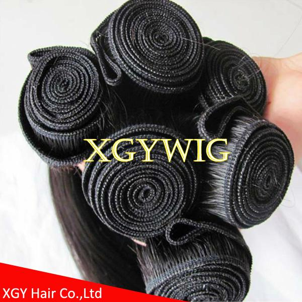 """Stock cheap factory price 10""""-30"""" 100% virgin remy human hair straight extension 5"""
