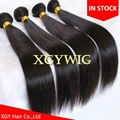 "Stock cheap factory price 10""-30"" 100% virgin remy human hair straight extension"