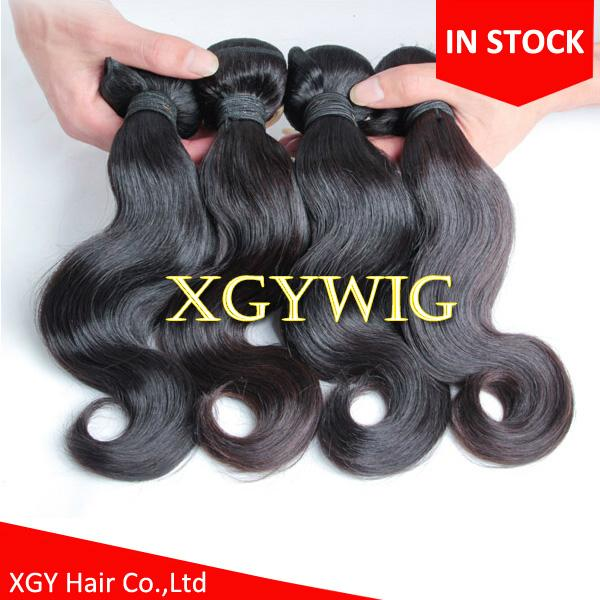 Stock cheap wholesale 100% virgin Remy human hair body wave extension weaving 2